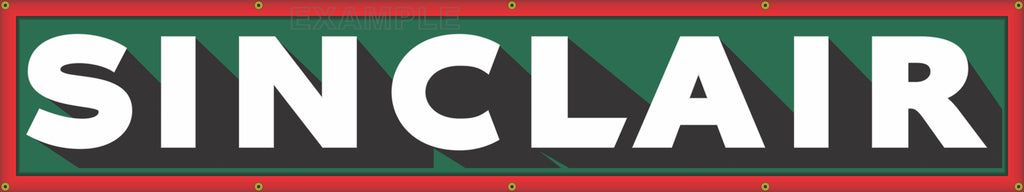 """SINCLAIR GAS STATION OLD LETTER SIGN REMAKE PRINTED BANNER ART MURAL 18/"""" x 96/"""""""