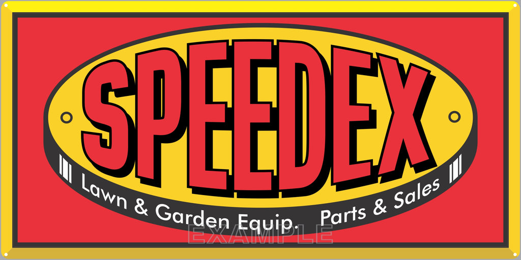 SPEEDEX LAWN AND GARDEN TRACTORS SALES DEALER OLD SIGN REMAKE ALUMINUM CLAD SIGN VARIOUS SIZES