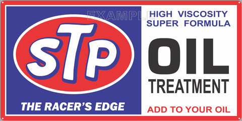 STP OIL TREATMENT RACING GAS STATION SERVICE GASOLINE OLD SIGN REMAKE ALUMINUM CLAD SIGN VARIOUS SIZES