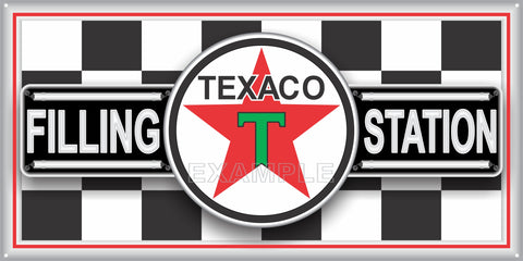 TEXACO FILLING STATION GAS STATION SERVICE GASOLINE OLD SIGN REMAKE ALUMINUM CLAD SIGN VARIOUS SIZES