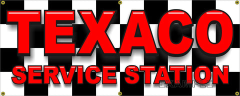 GAS STATION TEXACO LETTER STYLE BANNER LETTERING SIGN SHOP ART MURAL VARIOUS SIZES