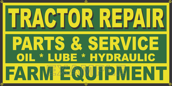 FARM TRACTOR REPAIR PARTS SERVICE DEALER OLD SIGN REMAKE BANNER SHOP ART CHOICE OF SIZE/COLORS