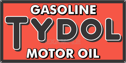 TYDOL MOTOR OIL GAS STATION SERVICE GASOLINE OLD SIGN REMAKE ALUMINUM CLAD SIGN VARIOUS SIZES