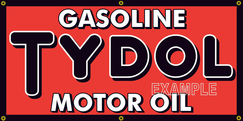 TYDOL FLYING A MOTOR OIL VINTAGE OLD SCHOOL SIGN REMAKE BANNER SIGN ART MURAL 2' X 4'/3' X 6'