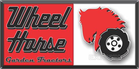WHEEL HORSE TRACTORS LAWN AND GARDEN DEALER OLD SIGN REMAKE ALUMINUM CLAD SIGN VARIOUS SIZES