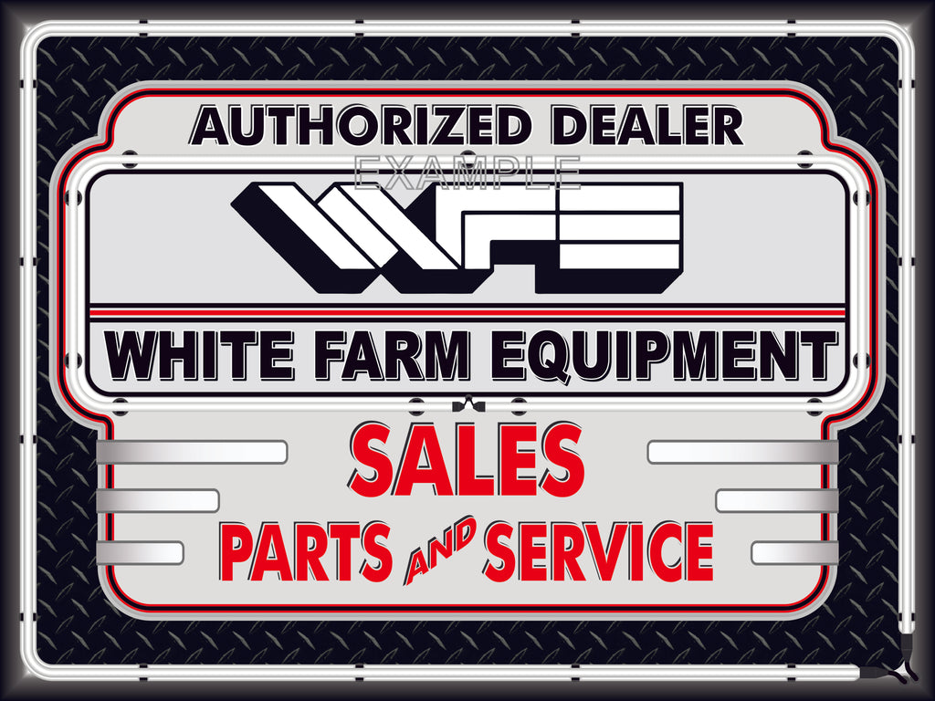 WHITE FARM EQUIPMENT TRACTORS DEALER STYLE SIGN SALES SERVICE PARTS TRACTOR REPAIR SHOP REMAKE BANNER 3' X 4'