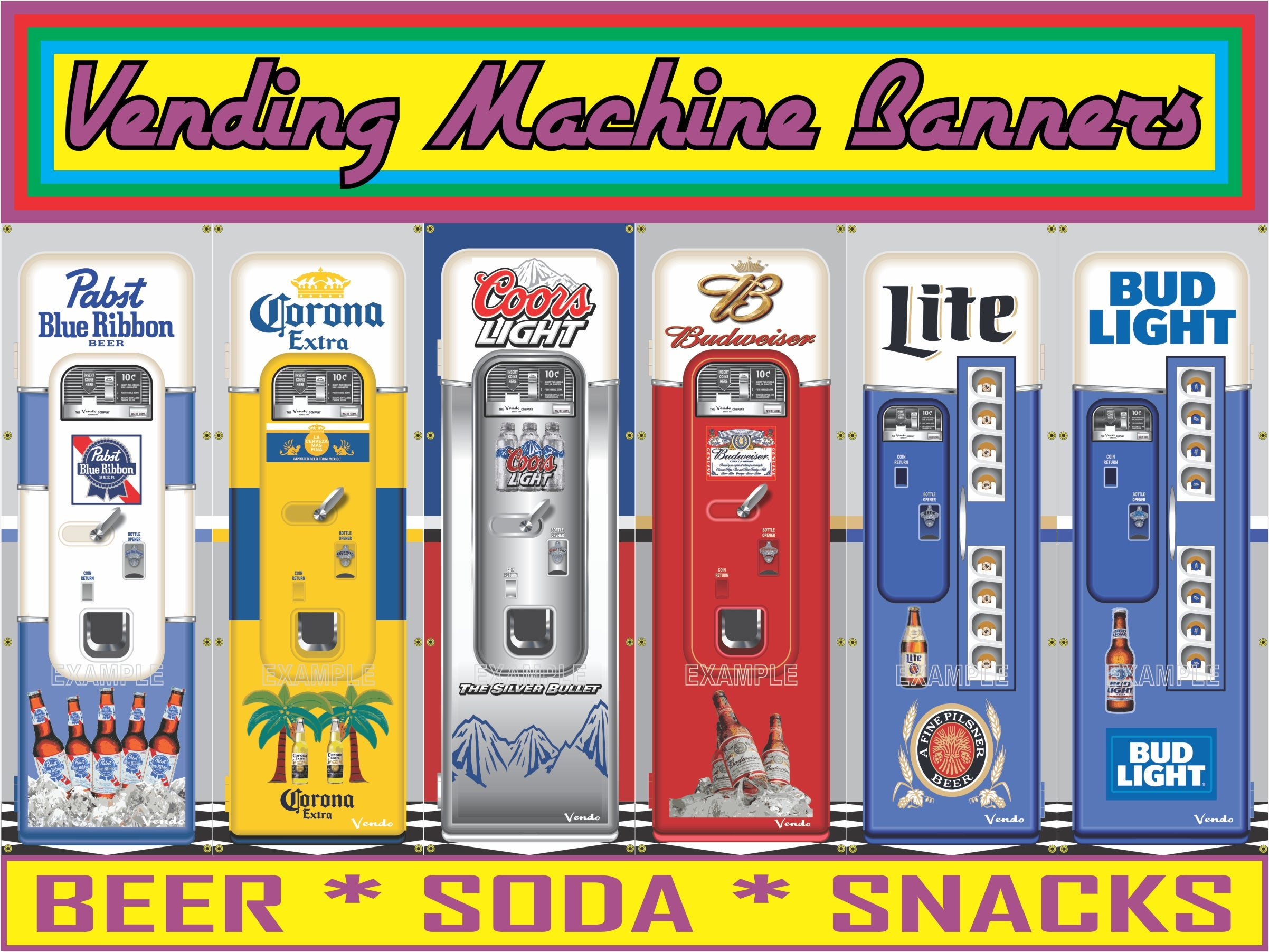 VENDING MACHINE BANNERS