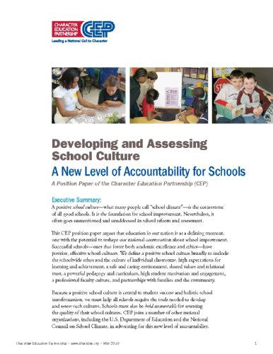 Developing and Assessing School Culture: A New Level of Accountability for Schools - Digital Download