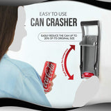 Ram-Pro 12 oz Aluminum Can Crusher & Bottle Opener | Heavy Duty Metal Wall Mounted Soda Beer Smasher – Eco-Friendly Recycling Tool