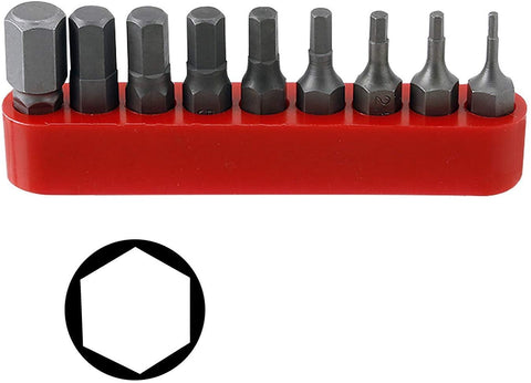 9-Piece Metric Hex Driver Bit Set 1.5-8mm - Taiwan By ProTools