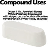 "Drixet Jeweler's Rouge ""White"" Polishing/Buffing Compound - For All Types of Martial (1 Oz.)"