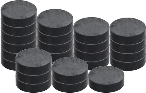 "RAM-PRO 25-Piece Powerful Magnetic Round Ferrite Magnet Discs with ¼"" Dia. Holes (3/4"" x 1/4"") – Universal Use on Frigidaire's, Bulletin Boards & Arts-Crafts Projects, Etc. (Solid)"