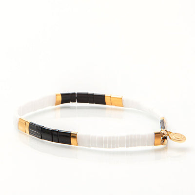 Caryn Lawn - Supernova Bracelet in Black/White/Gold