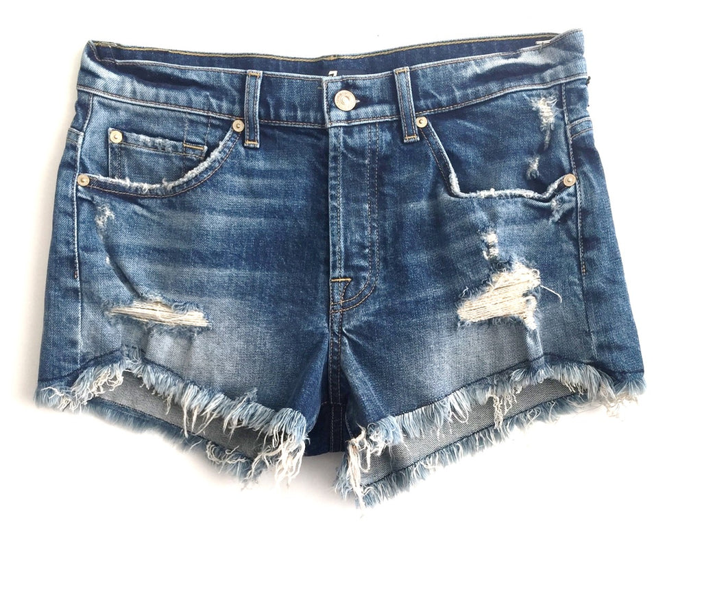 7 For All Mankind - BF Short w/ Wave Hem in Canyon Ranch