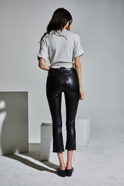 McGuire- Cropped Gainsbourg Black Faux Calfskin
