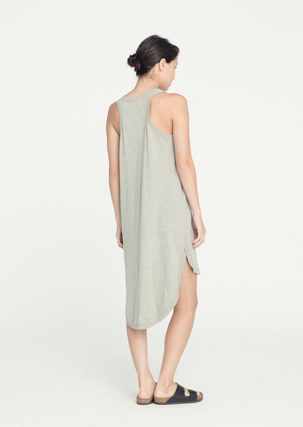 Wilt Shirttail Tank Dress Heather Grey