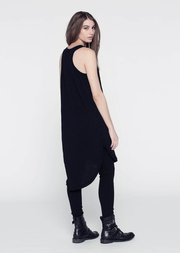 Wilt Shirttail Tank Dress Black
