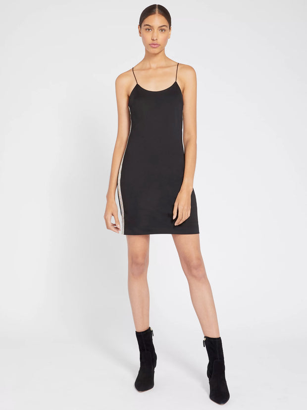 Alice + Olivia - Noni Embellish Mini Dress in Black/Iridescent