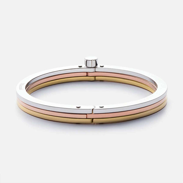 MIANSAI- Tricolor Cuff, Polished Silver/Rose/Gold Plated