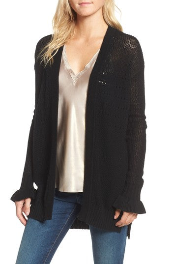 Ella Moss - Alysia Open Cardigan in Black
