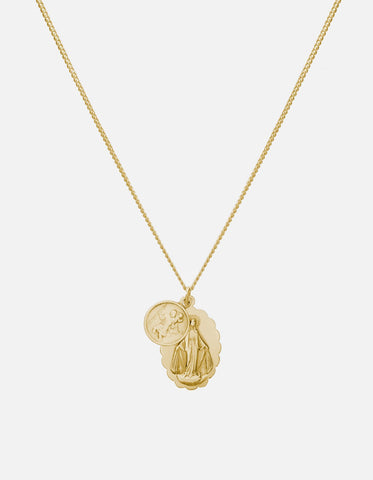 Miansai- Mini Saints Necklace, Gold, Polished