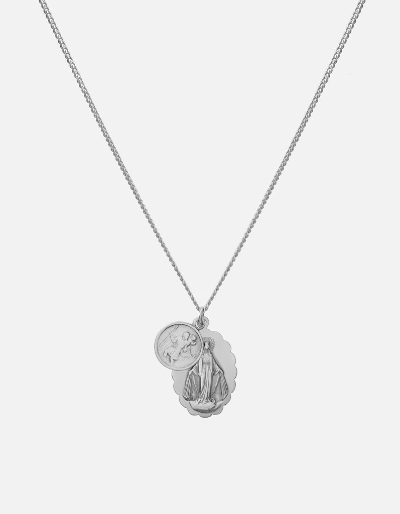 Miansai- Mini Saints Necklace, Silver, Polished