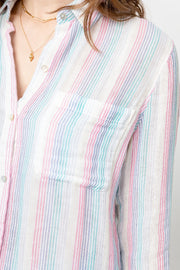 Rails - Ellis Button-Down Shirt in Iris Stripe