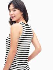 Splendid Splendid - Stripe Tank White/Black at Blond Genius - 2