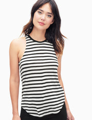 Splendid Splendid - Stripe Tank White/Black at Blond Genius - 1