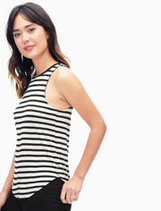 Splendid Splendid - Stripe Tank White/Black at Blond Genius - 3