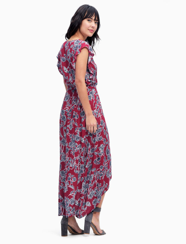 Splendid Splendid - Wrap Dress Style Beet Red at Blond Genius - 2