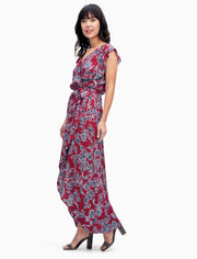 Splendid Splendid - Wrap Dress Style Beet Red at Blond Genius - 1