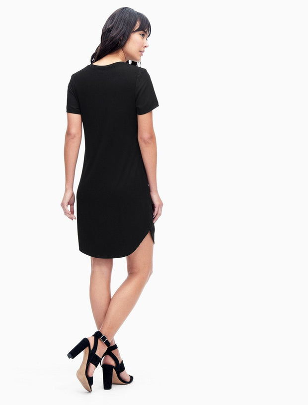 Splendid Splendid - Pocket Tee Dress Black at Blond Genius - 3