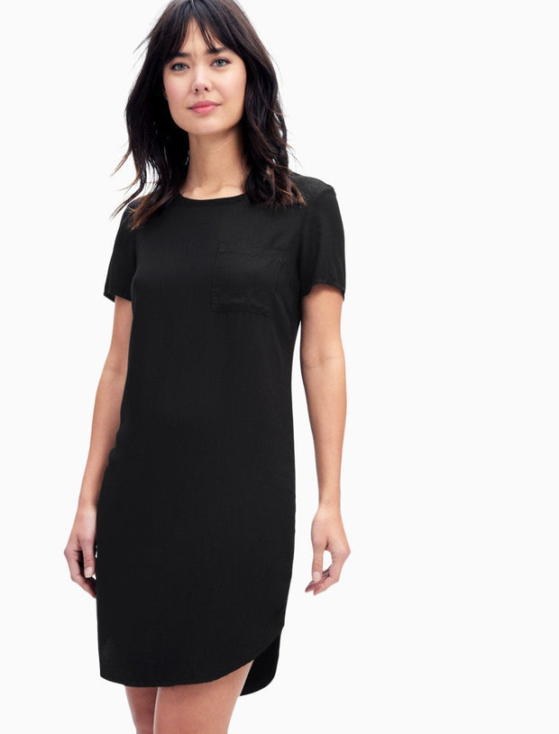 Splendid Splendid - Pocket Tee Dress Black at Blond Genius - 1