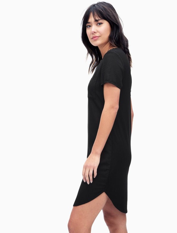 Splendid Splendid - Pocket Tee Dress Black at Blond Genius - 2