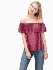 Splendid - Off Shoulder Top Cape Red