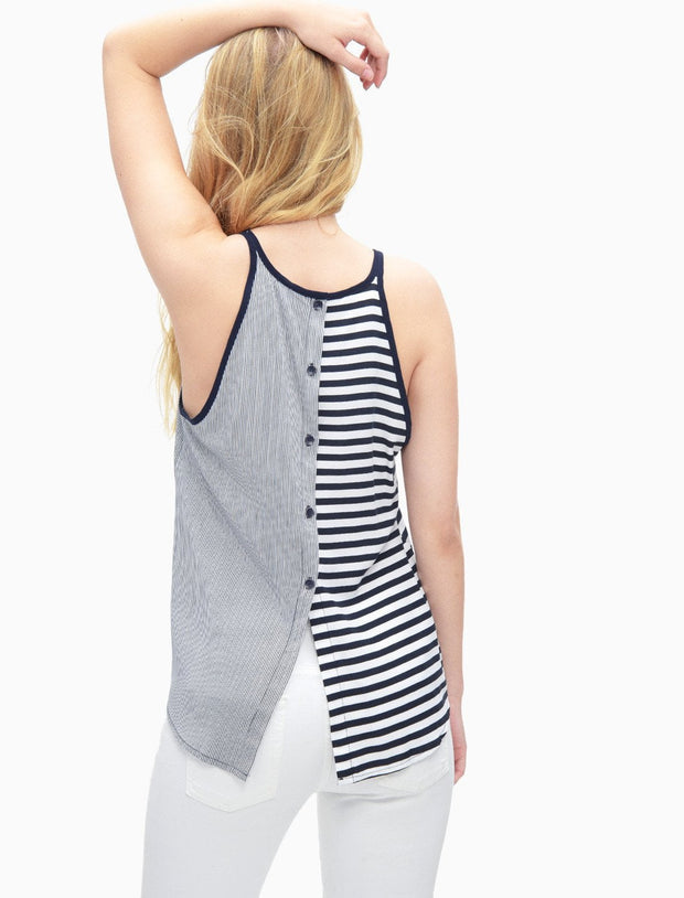 Splendid - Mixed Stripe Tank Navy