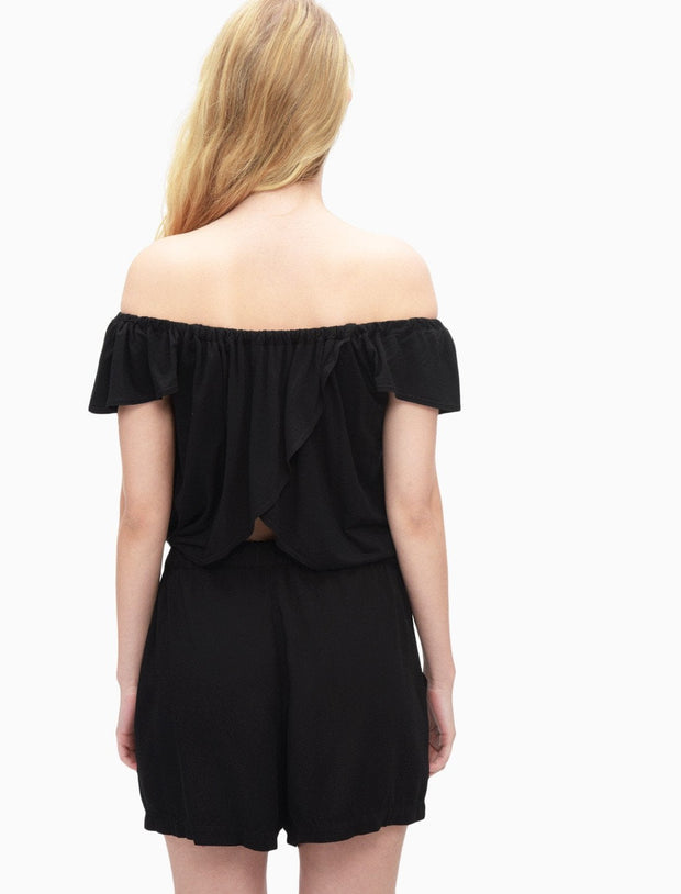 Splendid - Off Shoulder Romper Black