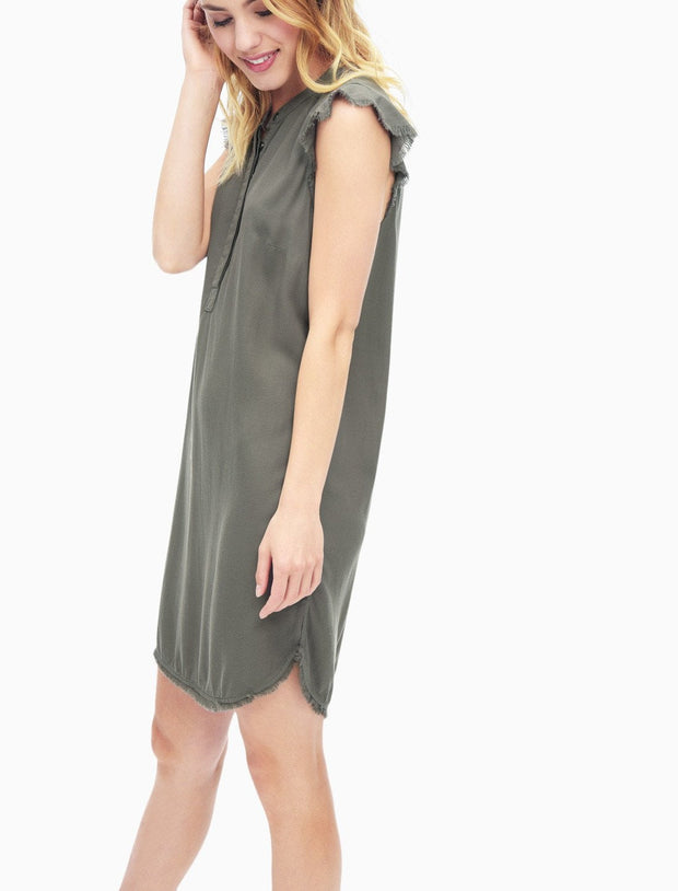 Splendid - Henley Dress Military Olive