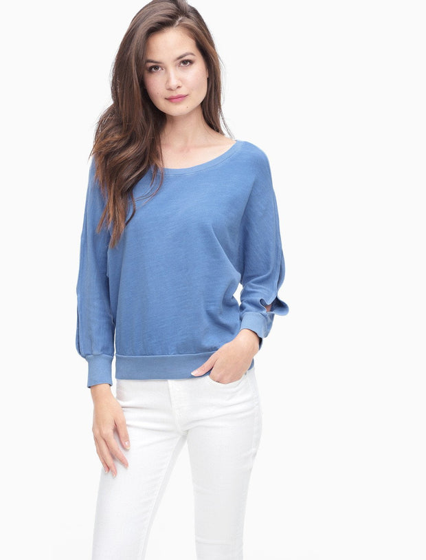 Splendid - Double Cut Out Pullover Vintage Heritage Blue