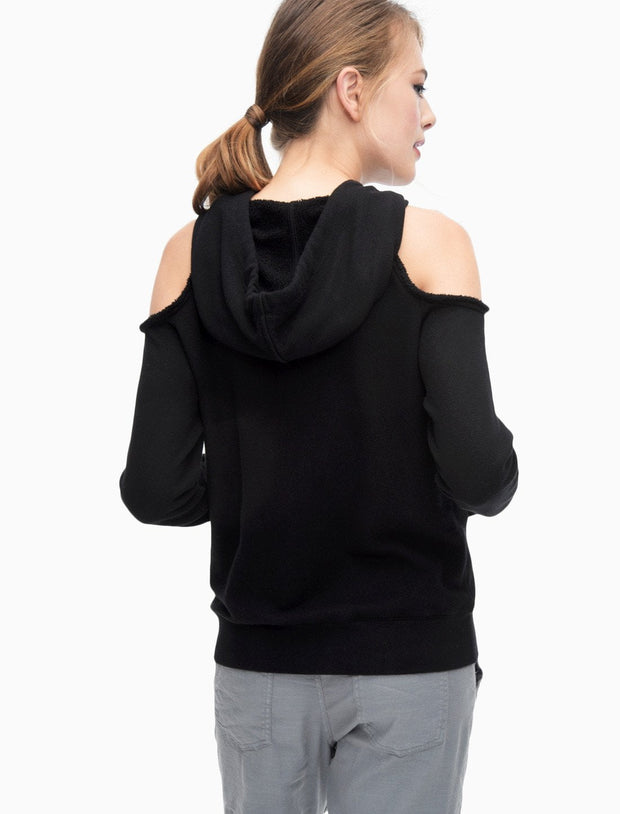 Splendid - Soft Cotton Cold Shoulder Sweatshirt Black