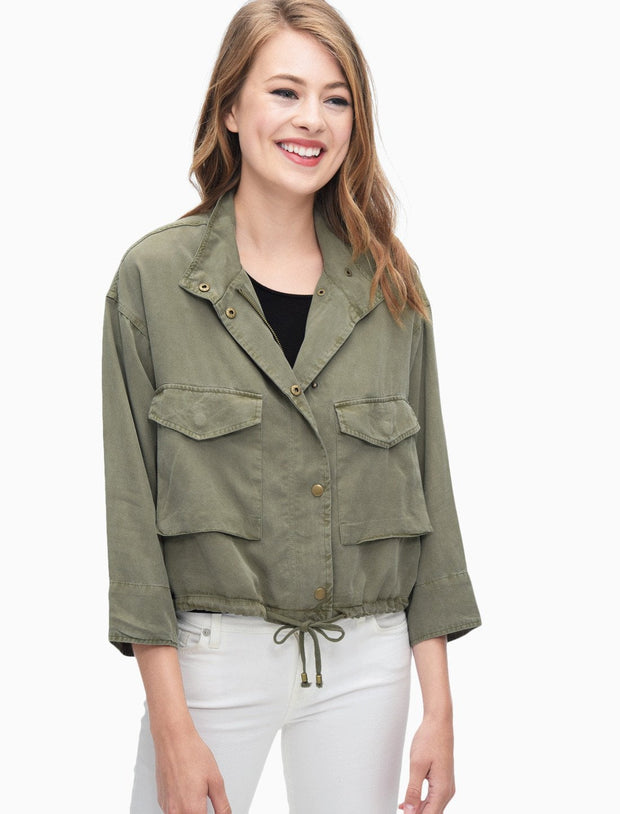 Splendid - Cropped Military Jacket Vintage Olivine
