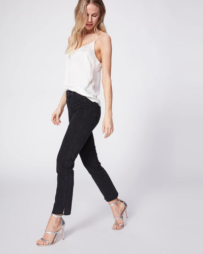 Paige Denim - Cindy Straight Leg Jeans w/ Seaming Details in Lights Out