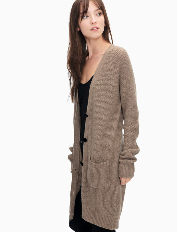 Splendid - Lexington Button Front Cardi in Heather Chestnut