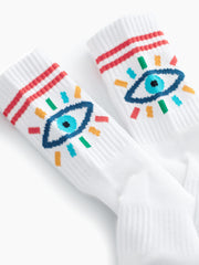 Mother Denim - Baby Steps Socks in Blue Rainbow Eyes