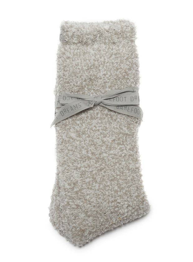 Barefoot Dream - CozyChic Women's Heathered Socks in Oyster-White