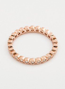Gorjana - Candice Shimmer Ring Rose Gold - Size 8