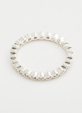 Gorjana - Candice Shimmer Ring Silver - Size 8