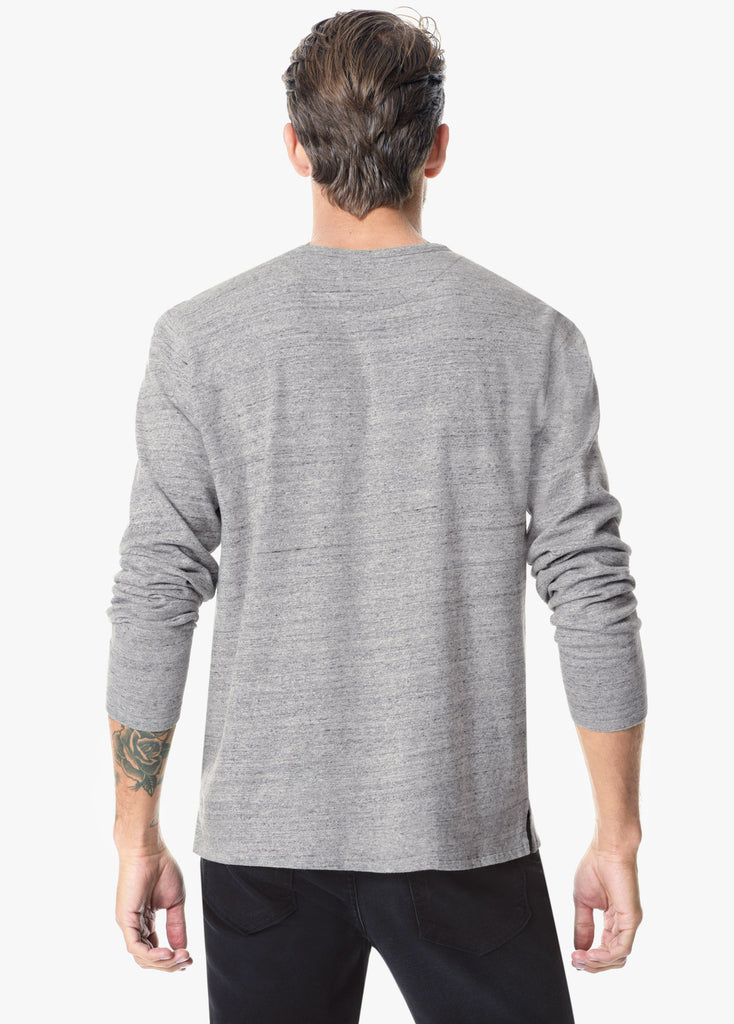 Joe's JOES - Men's Wintz Henley Heather Grey at Blond Genius - 3