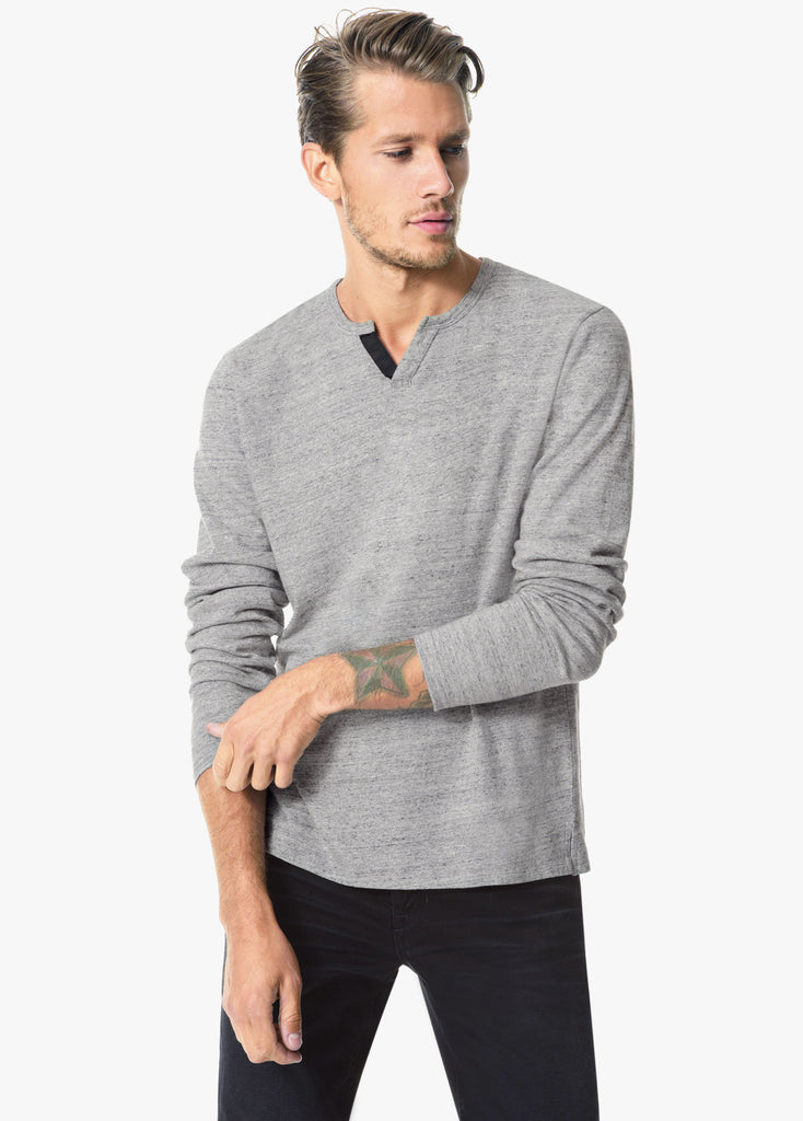 Joe's JOES - Men's Wintz Henley Heather Grey at Blond Genius - 1